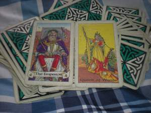 The Emperor and the Queen of Wands