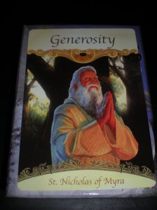 oracle cards, messages from saints, santa claus origins