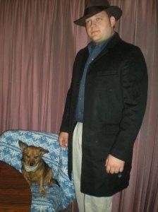 three quarter length men's coats