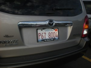 out of state license plates