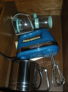 hand mixer, pasty cutter, nut chopper