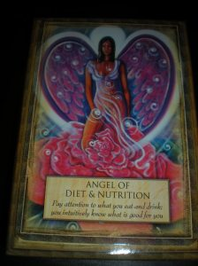 oracle cards, healthy eating