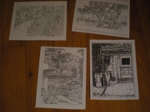 Beautifully detailed postcards.