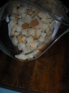 home-made croutons