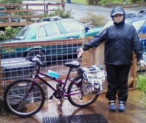 Eugene biking in the rain