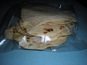 home-made tortillas