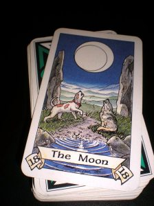 the moon tarot card, robin wood tarot the moon