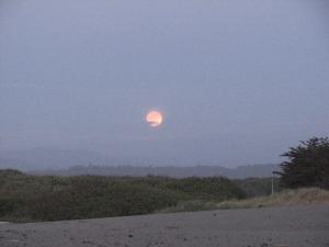 super moon over the beach