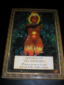goddesses, angels, and oracle cards