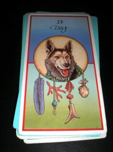 animal cards, dog totems