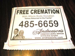 free cremation with donation