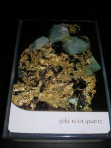 gold with quartz