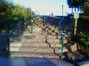 Salem's stone staircase