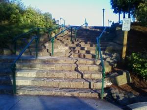 Salem's stone staircase