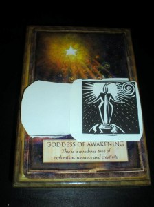 oracle cards, goddess messages