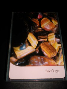 crystal oracle cards, tiger's eye,  calm and clarity
