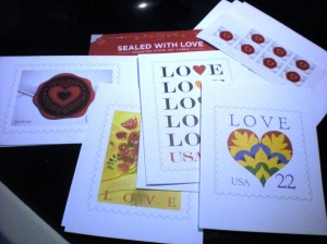 love stamps and cards