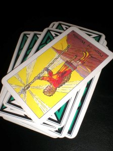 robin wood tarot, page of wands