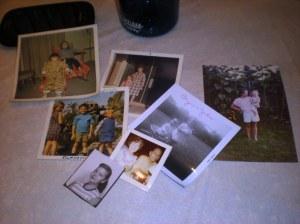 family photos, found treasures