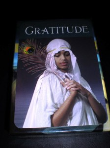 oracle and self-care cards, gratitude
