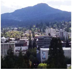 Skinner's Butte in Eugene, looking at Spencer's Butte from Skinner's Butte