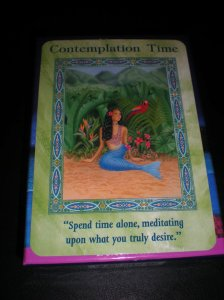 mermaids and dolphins, oracle cards, messages of meditation