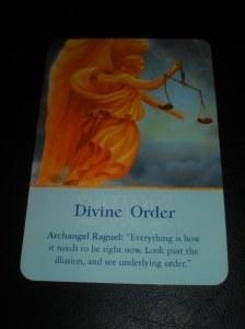 angel messages, divine order