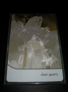 crystal oracle cards, clear quartz crystal, healing stones, basic crystals