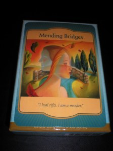 oracle cards, messages of mending, bridge building