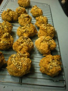 mountain rose herbs easy seedy soda bread, soda bread rolls, seeded rolls, organic recipes for bread,