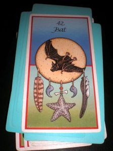 bat messages, animal cards