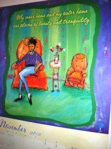 louise hay calendar, inner home, where our heart lives