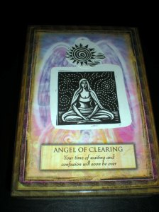 angel messages, oracle cards, clearing messages