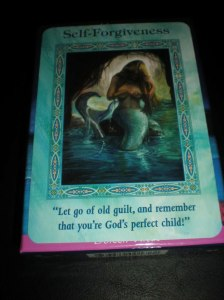 oracle cards, mermaid messages, self-care and forgiveness