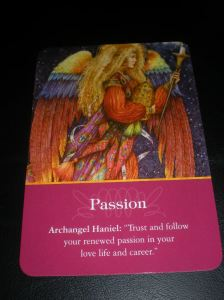 angel messages, oracle cards, archangel haniel, passion messages
