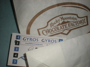gyros and fudge