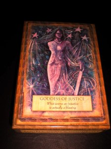 oracle cards, gods and goddesses and angels, justice messages