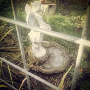 Frosty frontyard faerie fountain.
