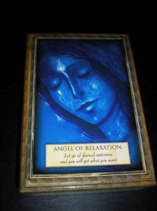 angel of relaxation, oracle cards messages from angels