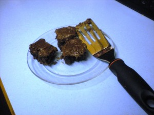home-made brownies