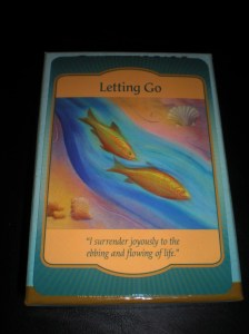oracle cards, release, letting go
