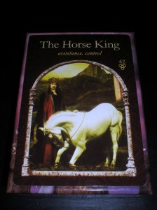 oracle cards, horse king, assistance messages