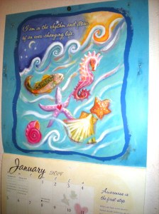 louise hay, sea images, calendar pages, january 2014
