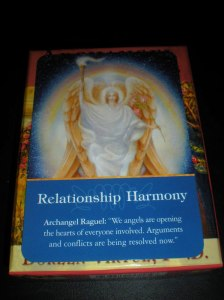 Archangel Raguel, oracle cards, relationships