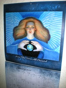 angel calendars, january calendar pages