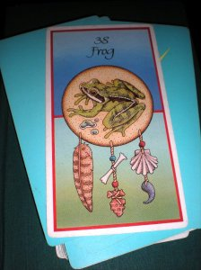 healing, animal messages, oracle cards, frog, cleansing