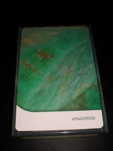 crystal oracle cards, amazonite, artist's stone, peaceful messages