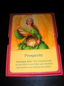 oracle cards, angel messages, prosperity