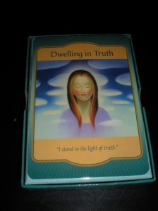 oracle cards, dwelling in truth, living honestly