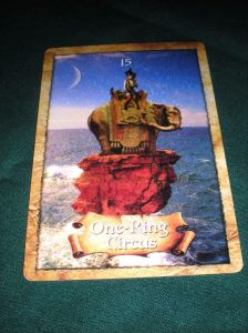 the map, oracle cards, one ring circus